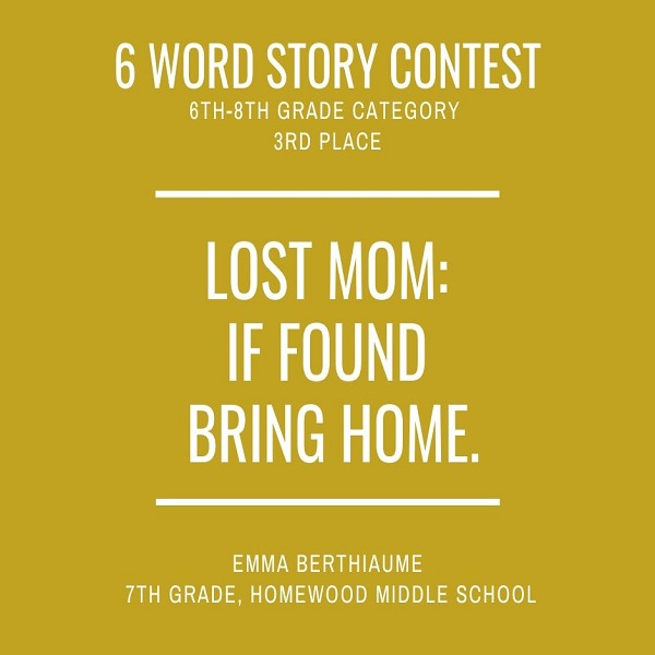 6 Word Story Contest3