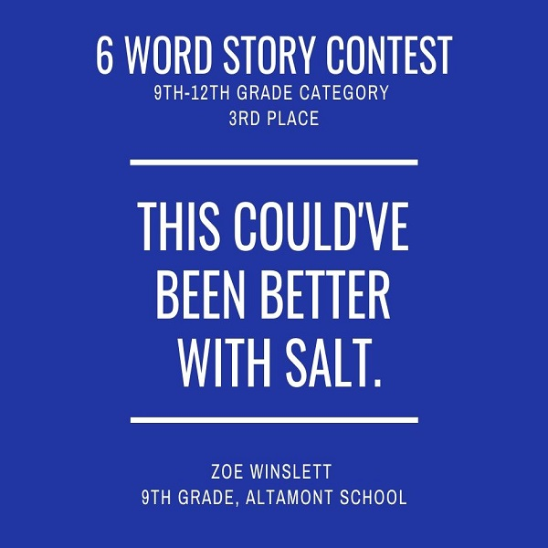 6 Word Story Contest7