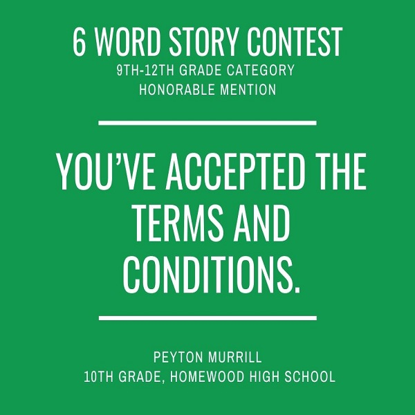 6 Word Story Contest8